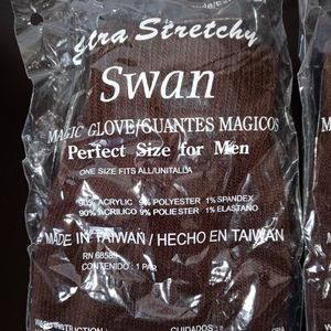 Extra Stretchy Swan Magic Gloves / Guantes Magicos